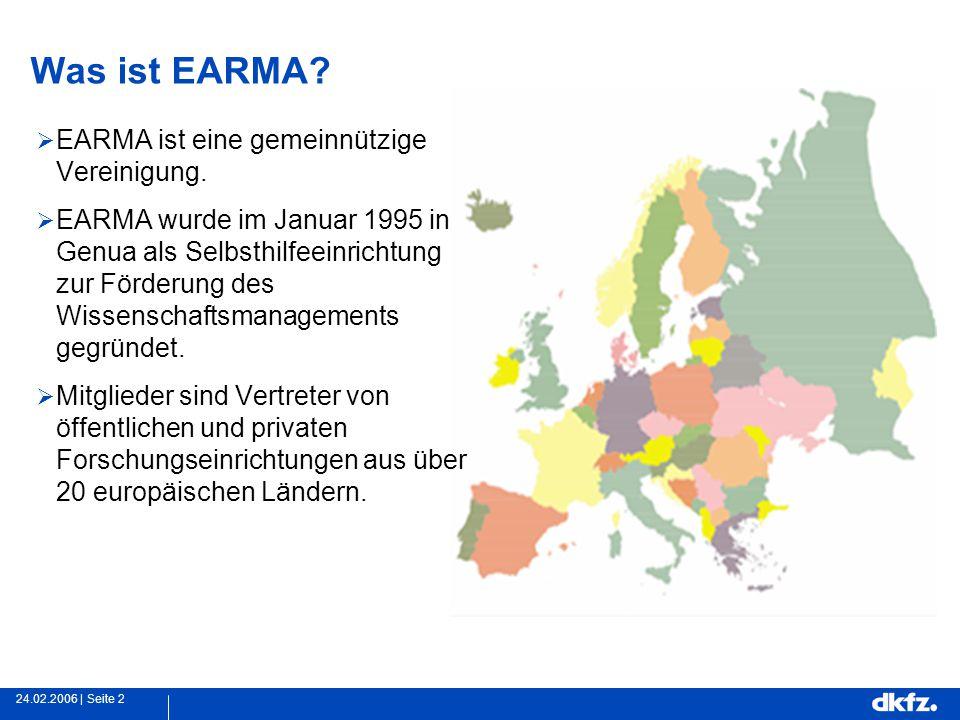Seite 224.02.2006 | Was ist EARMA.  EARMA ist eine gemeinnützige Vereinigung.
