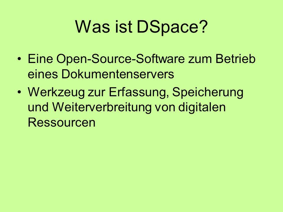Was ist DSpace.