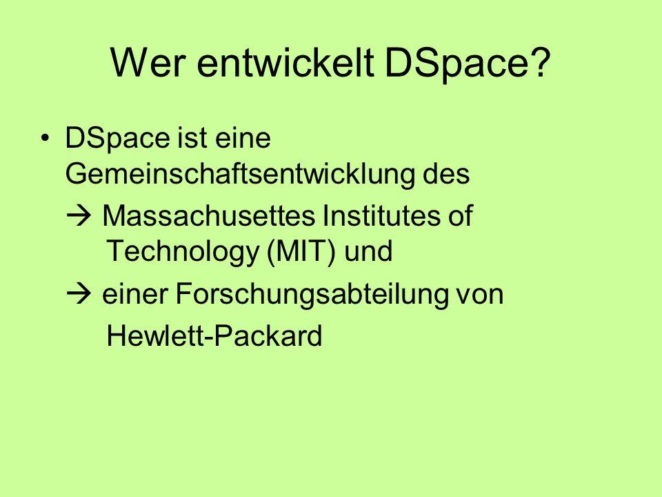 Wer entwickelt DSpace.