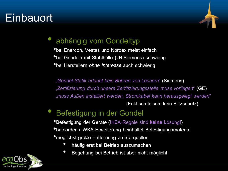 "Technik-Beispiel Bsp: Enercon ""Fledermausbox (Foto S. Kaminsky) Bsp: batcorder + WKA-Erweiterung"