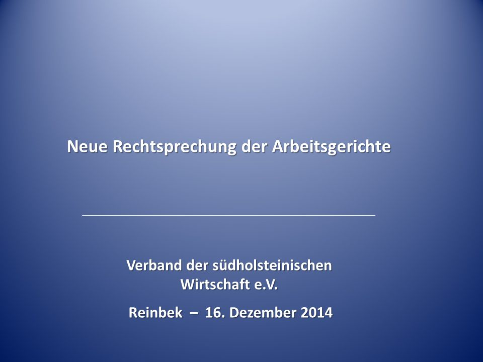 Verband der südholsteinischen Wirtschaft e.V.Reinbek – 16.