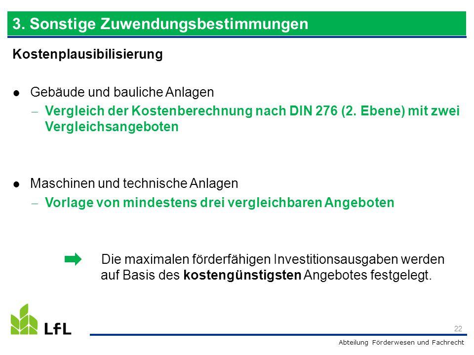 Abteilung Förderwesen und Fachrecht Kostenplausibilisierung ● Gebäude und bauliche Anlagen  Vergleich der Kostenberechnung nach DIN 276 (2. Ebene) mi