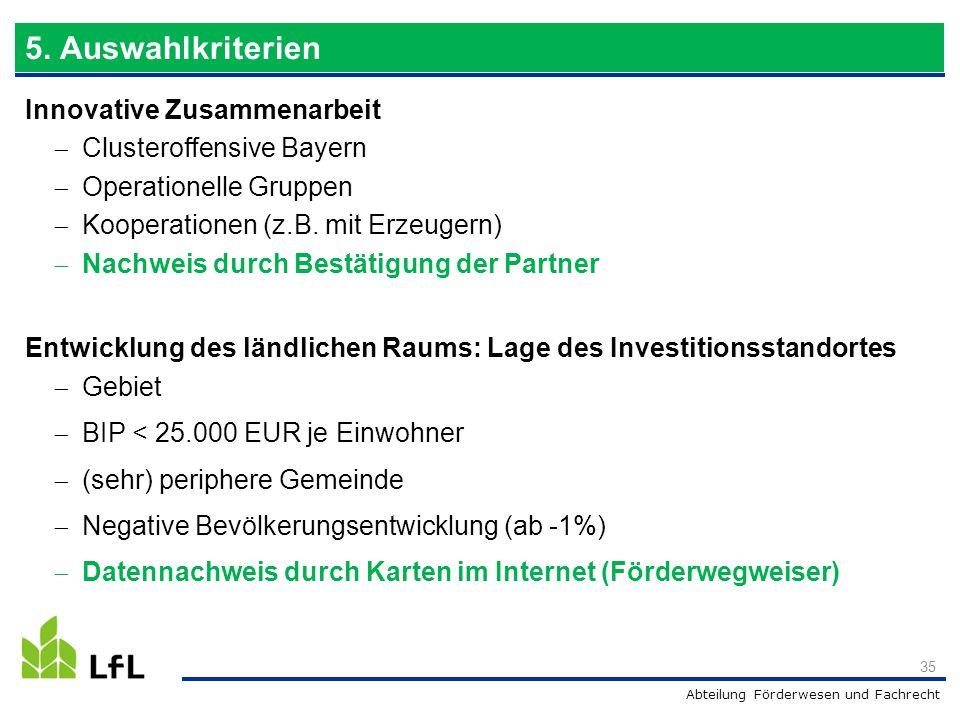 Abteilung Förderwesen und Fachrecht Innovative Zusammenarbeit  Clusteroffensive Bayern  Operationelle Gruppen  Kooperationen (z.B. mit Erzeugern) 