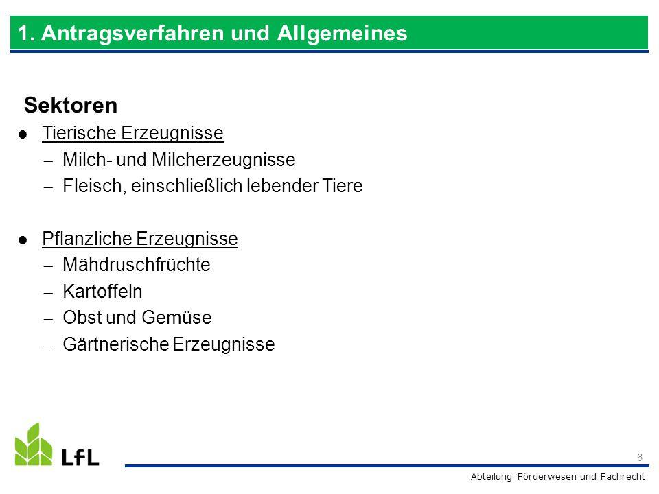 Abteilung Förderwesen und Fachrecht Investitionsstandort  Bayern: BALIS-Betriebsnummer für die Produktionsstätte Anhang-I-Erzeugnisse  Aufnahme von Anhang-I-Erzeugnissen  nur bei KMU darf das Produktionsergebnis ein Nicht-Anhang-I- Erzeugnis sein  Zolltarifdatenbank der Europäischen Union, auch TARIC genannt  Einordnung der aufgenommenen Rohware sowie des Endprodukts im Antragsformular  Weiterführende Links im Förderwegweiser des StMELF oder Anfrage beim Hauptzollamt Hamburg-Jonas 17 2.