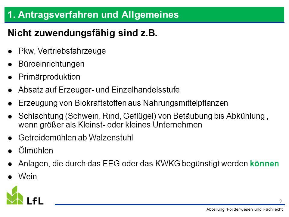 Abteilung Förderwesen und Fachrecht 40 20 Mio.5 30 Punkte 2,5 Mio.