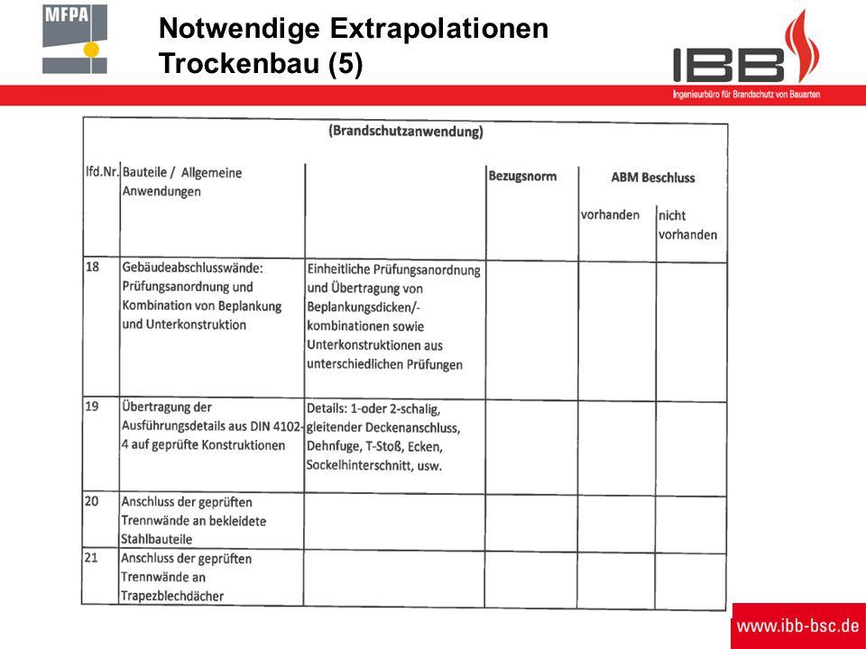 Notwendige Extrapolationen Trockenbau (5)
