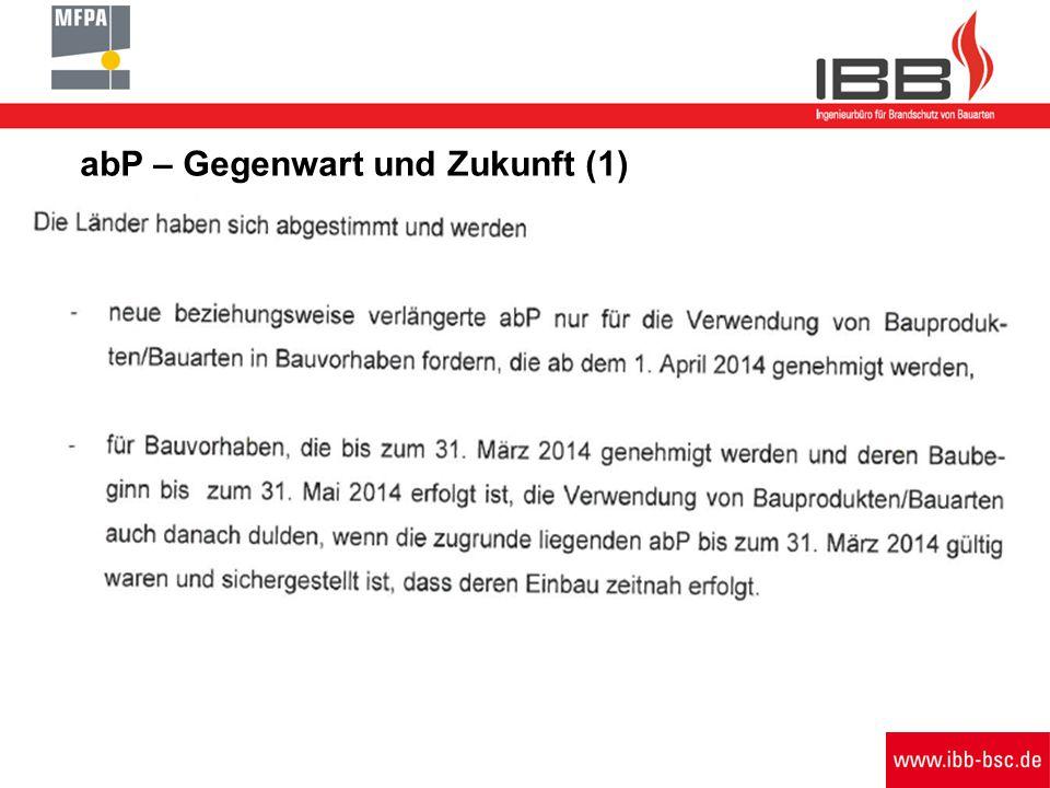 abP – Gegenwart und Zukunft (1) Schreiben Bauministerkonferenz 11. + 18.03.2014