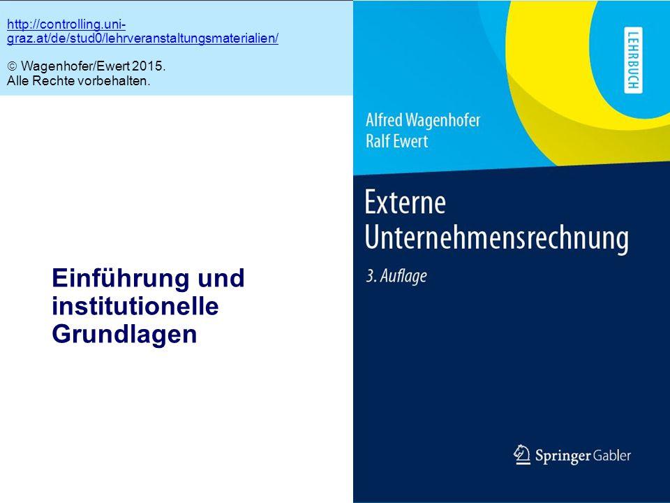 1.1 Einführung und institutionelle Grundlagen http://controlling.uni- graz.at/de/stud0/lehrveranstaltungsmaterialien/  Wagenhofer/Ewert 2015. Alle Re