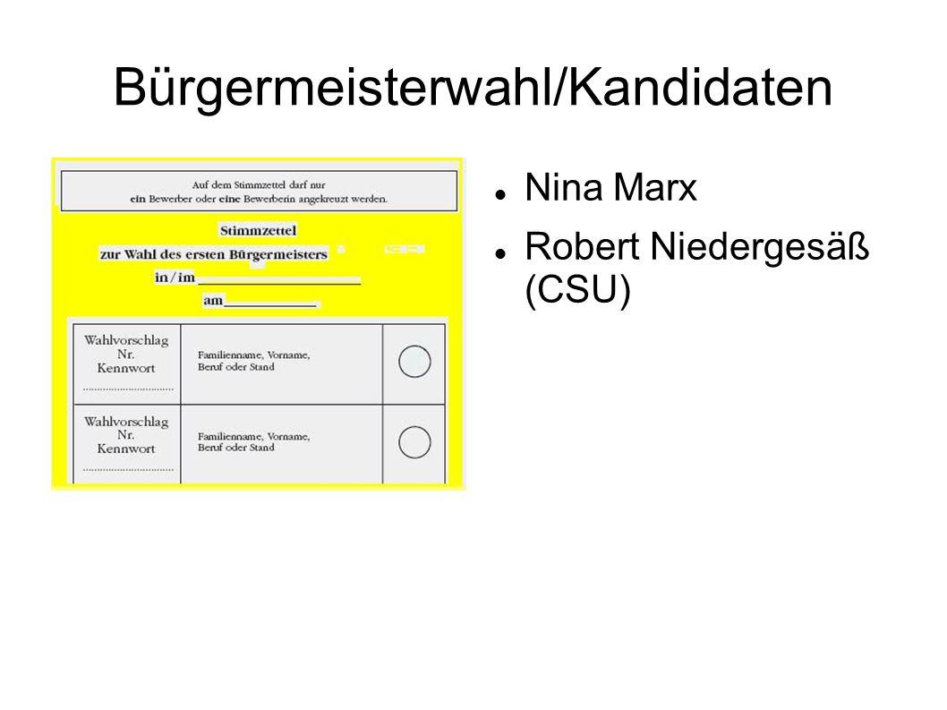 Bürgermeisterwahl/Kandidaten Nina Marx Robert Niedergesäß (CSU)