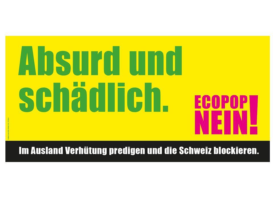 Inhalt Ziel der Initiative Auslangslage Folgen von «Ecopop» Gründe gegen «Ecopop» Breite Allianz gegen die Initiative