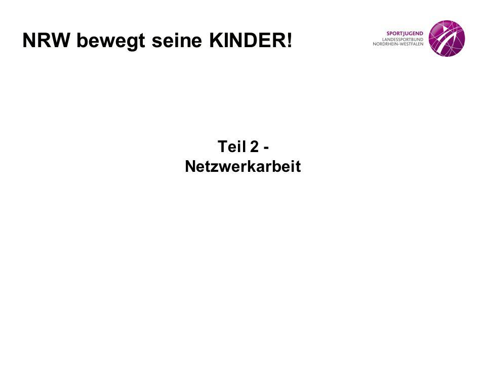 Teil 2 - Netzwerkarbeit NRW bewegt seine KINDER!
