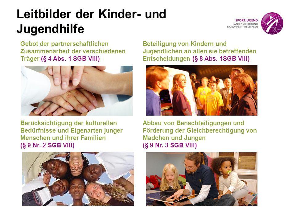 Gebot der partnerschaftlichen Zusammenarbeit der verschiedenen Träger (§ 4 Abs. 1 SGB VIII) Beteiligung von Kindern und Jugendlichen an allen sie betr