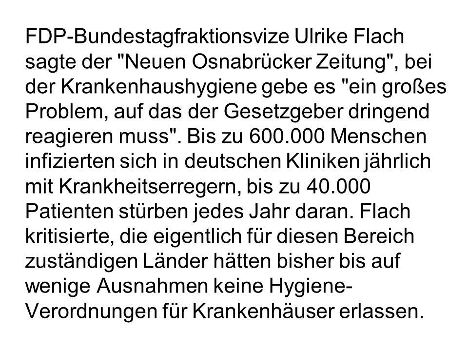 FDP-Bundestagfraktionsvize Ulrike Flach sagte der