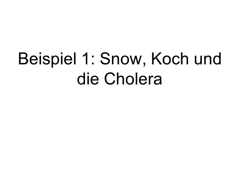 Beispiel 1: Snow, Koch und die Cholera