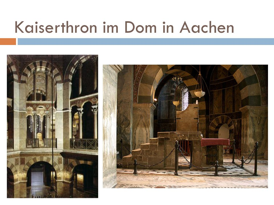 Kaiserthron im Dom in Aachen