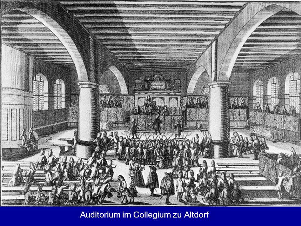 Auditorium im Collegium zu Altdorf