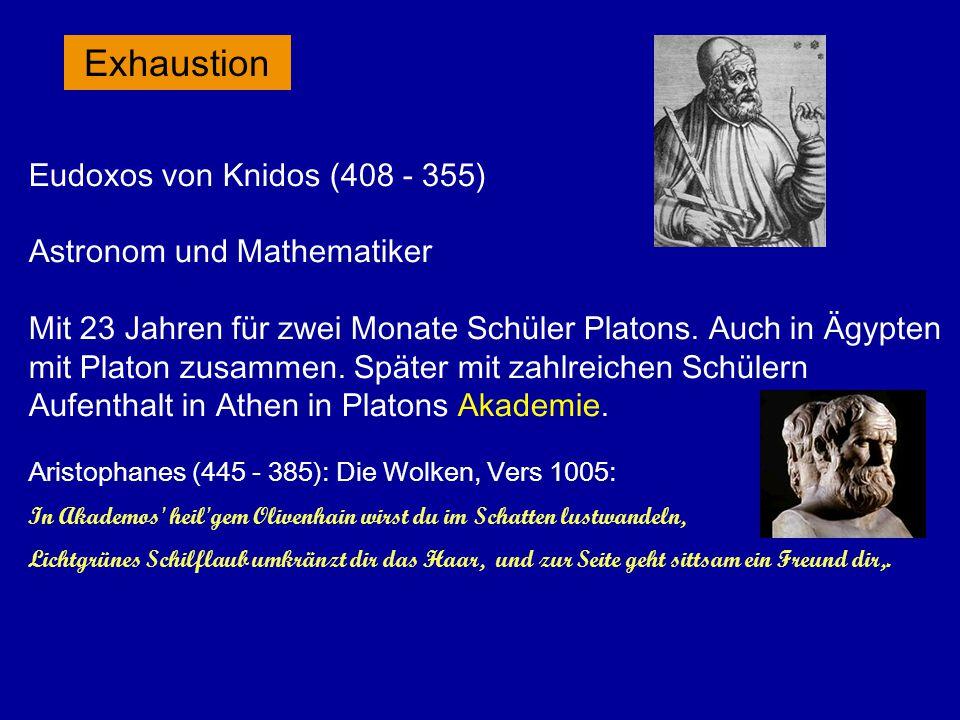 Aristoteles (384 - 322) mit seinem Schüler Alexander Kontinuumslehre führt zu Problemen bei Bewegung: Im Anfangspunkt müßte Ruhe und beginnende Bewegung zugleich sein.