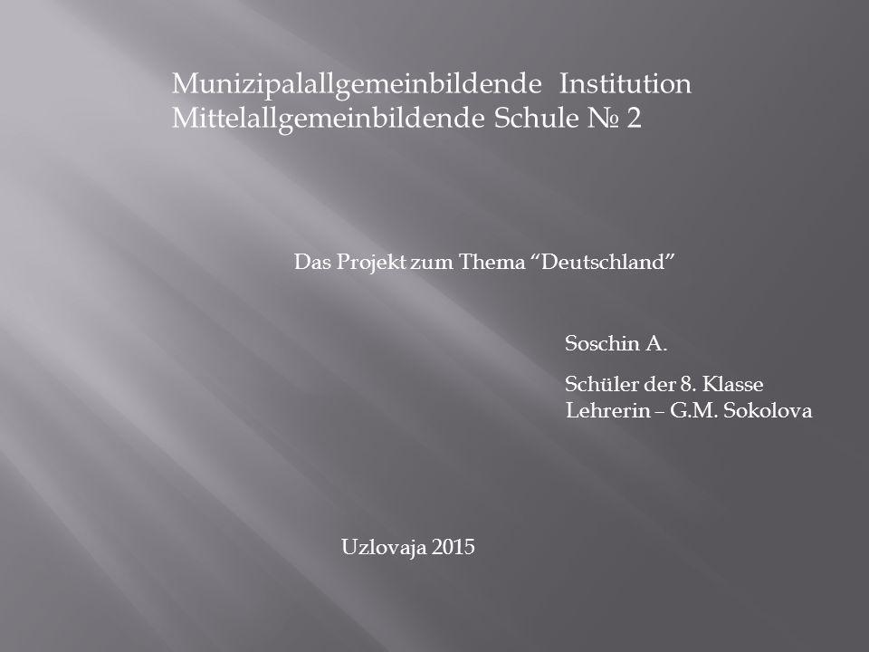 Munizipalallgemeinbildende Institution Mittelallgemeinbildende Schule № 2 Soschin A.