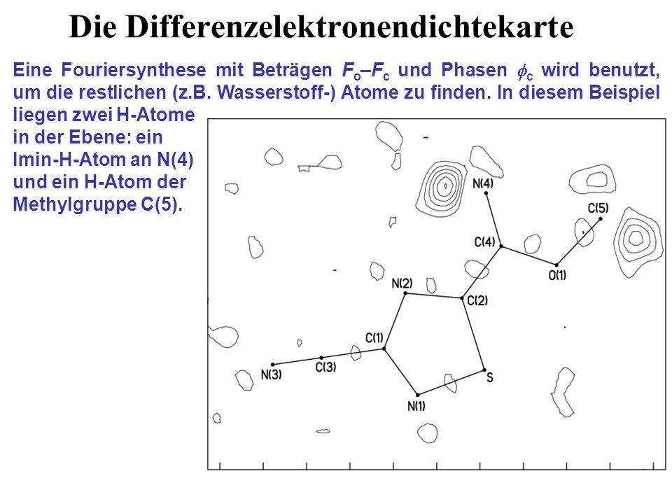 Beispiel einer problematischen Atomzuordnung Bei der erhofften Verbindung: [(CH 3 ) 3 Si] 2 N N Sn [(CH 3 ) 3 Si] 2 N war die Struktur auf den ersten Blick wie erwartet, aber die N Sn 'Doppelbindung' hatte die gleiche Länge wie die zwei normalen N Sn Einfachbindungen.