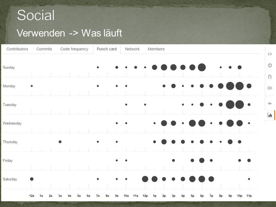 10.12.2014 15 Infopoint Social Coding , Jörg Wüthrich Verwenden -> Was läuft