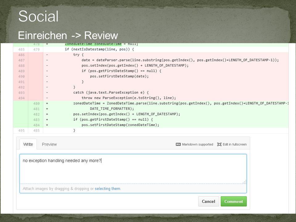 10.12.2014 20 Infopoint Social Coding , Jörg Wüthrich Einreichen -> Review