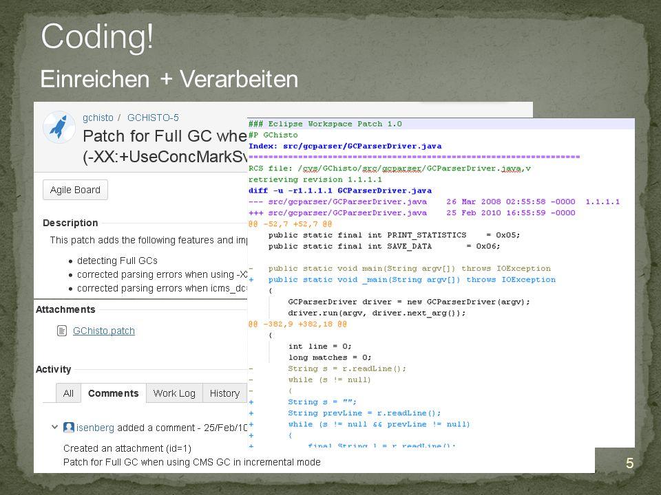 10.12.2014 5 Infopoint Social Coding , Jörg Wüthrich Einreichen + Verarbeiten