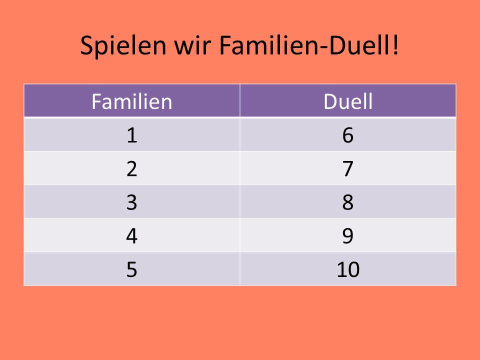 Spielen wir Familien-Duell! FamilienDuell 16 27 38 49 510