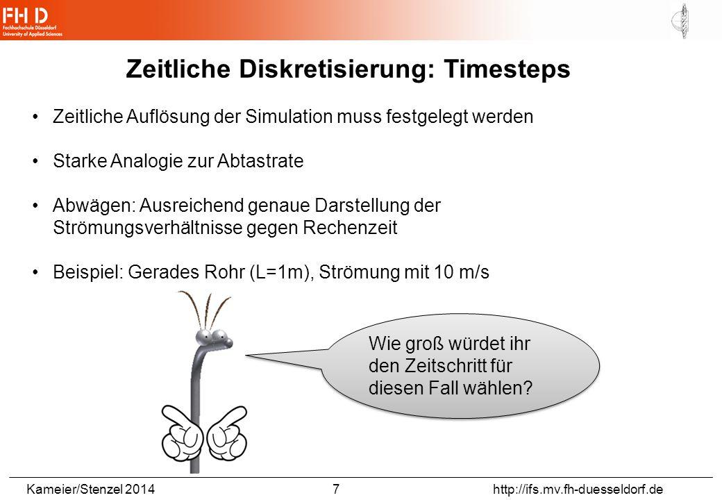 Kameier/Stenzel 2014 18 http://ifs.mv.fh-duesseldorf.de Planes, Vektoren, Streamlines