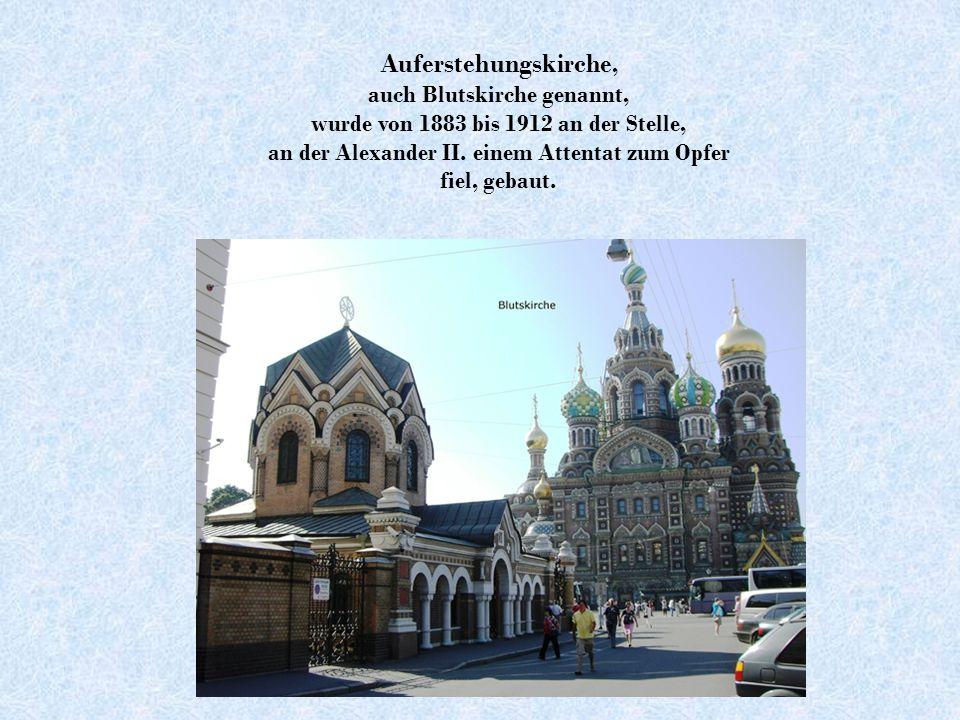 Smolnyi-Kloster Das Kloster ließ Elisabeth I. als ihren Alterssitz bauen.
