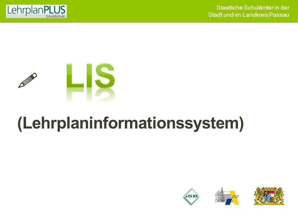 Staatliche Schulämter in der Stadt und im Landkreis Passau  (Lehrplaninformationssystem)
