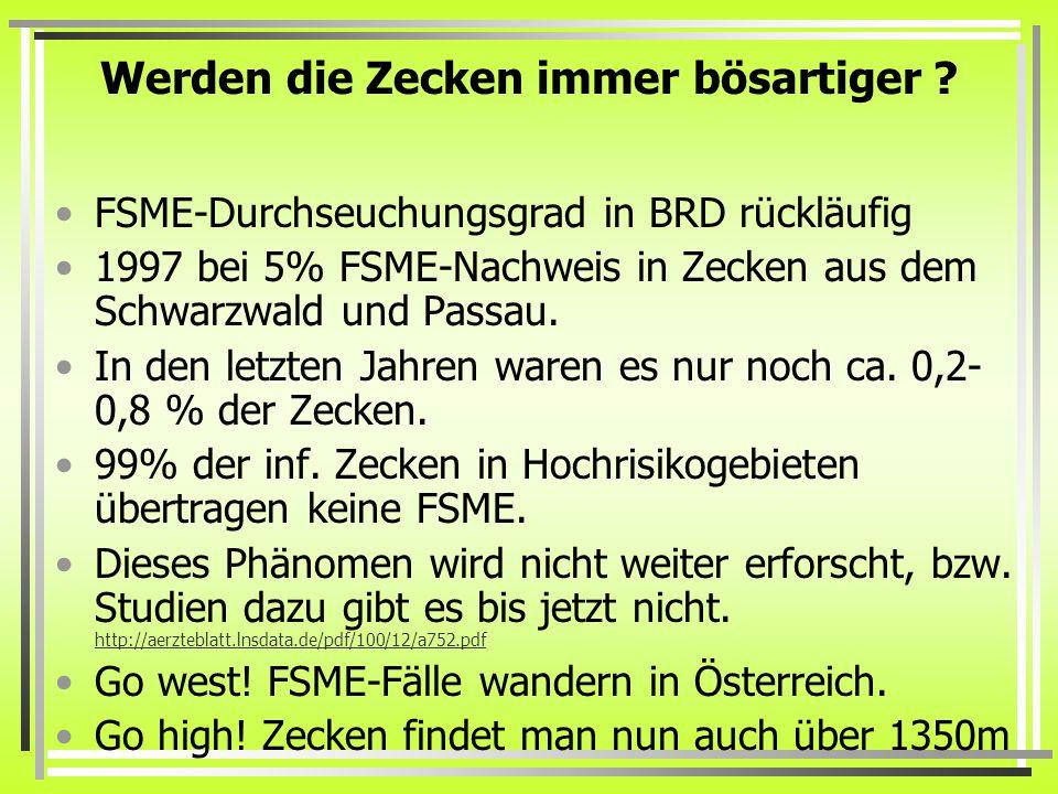 Übertragung durch Ziegenmilch.Eine Familie erkrankte an FSME in Österreich auf einer Hoch-Alm.