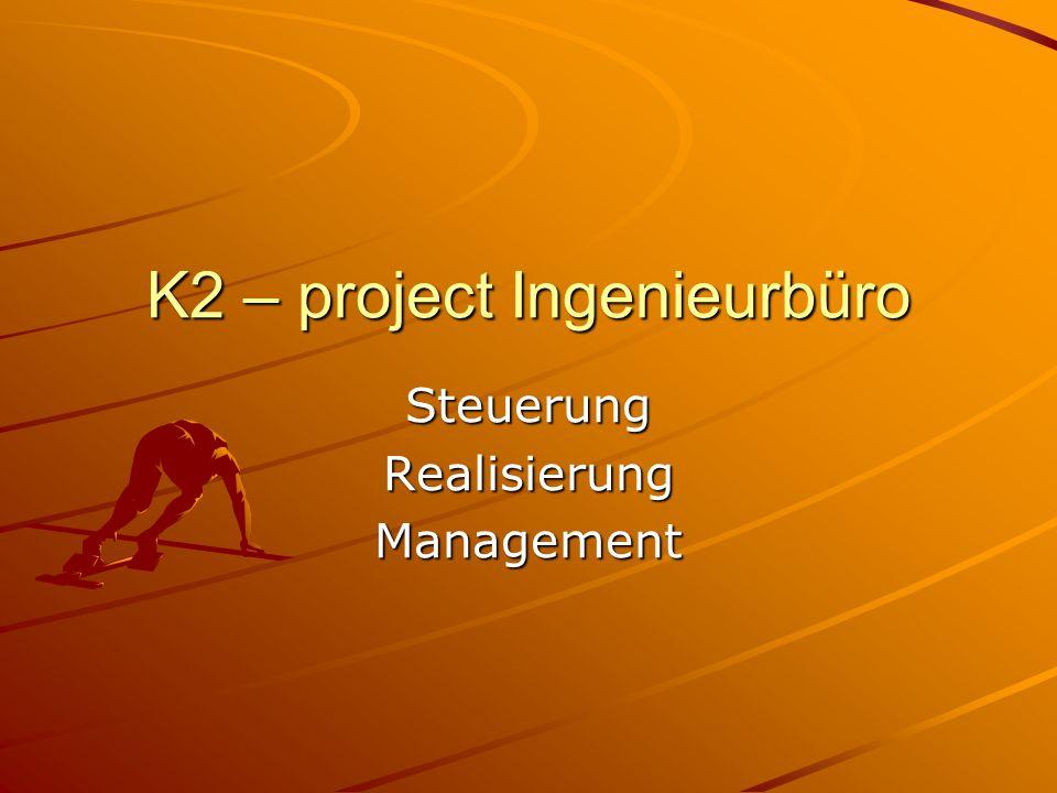 K2 – project Ingenieurbüro SteuerungRealisierungManagement