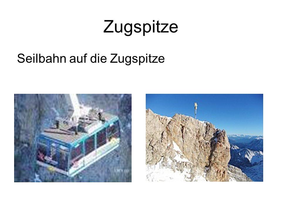 Zugspitze Seilbahn auf die Zugspitze