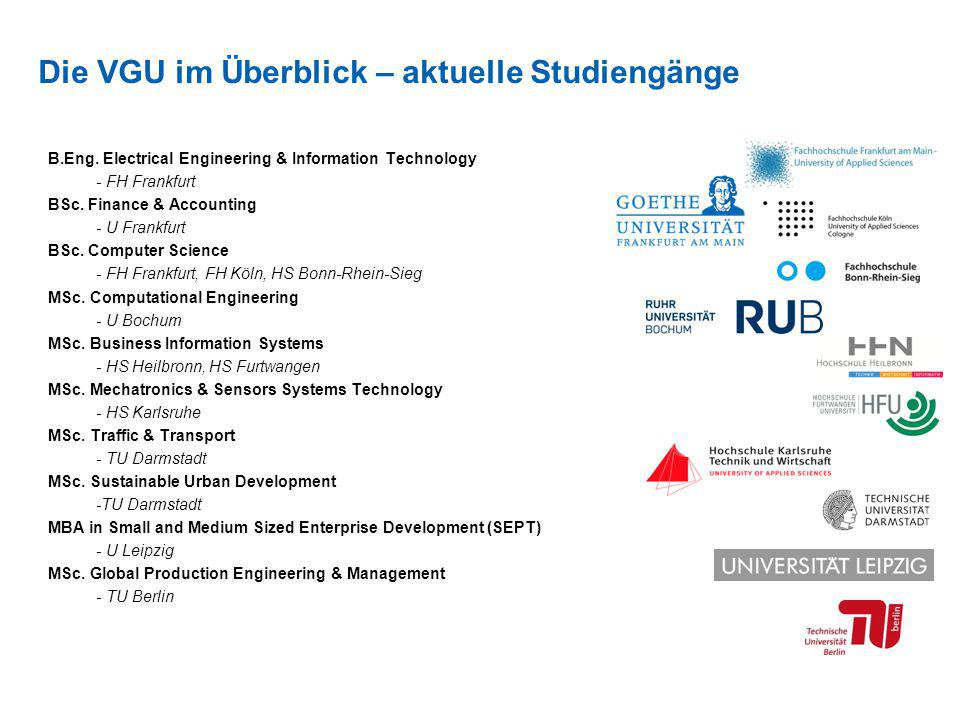 B.Eng. Electrical Engineering & Information Technology - FH Frankfurt BSc. Finance & Accounting - U Frankfurt BSc. Computer Science - FH Frankfurt, FH
