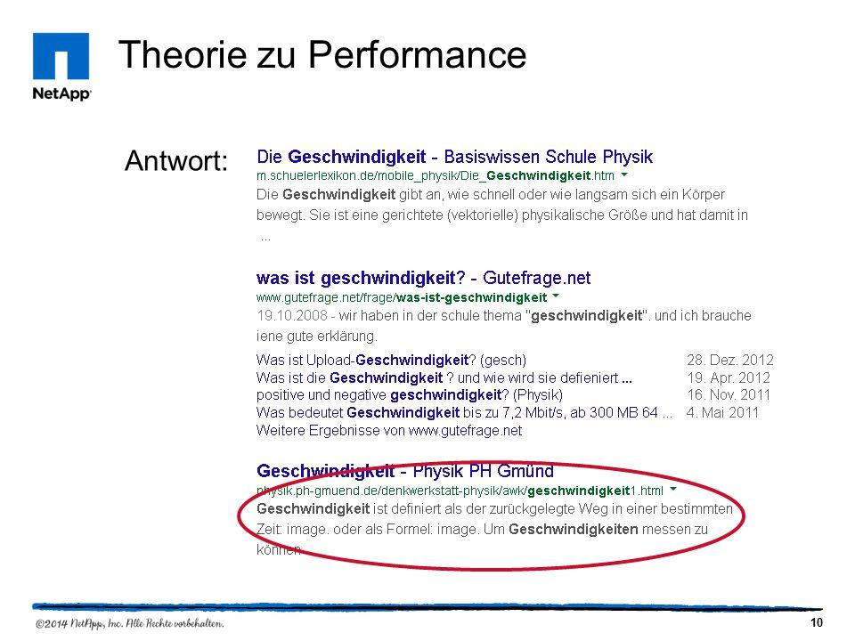 10 Theorie zu Performance Antwort: