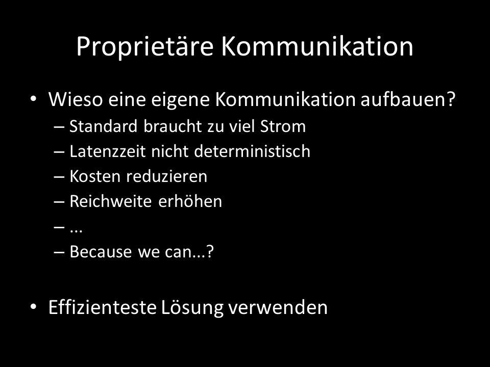 Proprietäre Kommunikation Wieso eine eigene Kommunikation aufbauen.