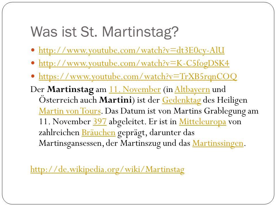 St.Martinstag, den 11.