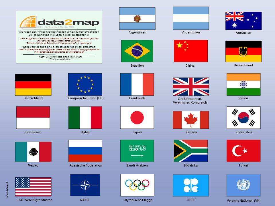 www.data2map.at Argentinien Australien Brasilien Deutschland Indien Korea, Rep.