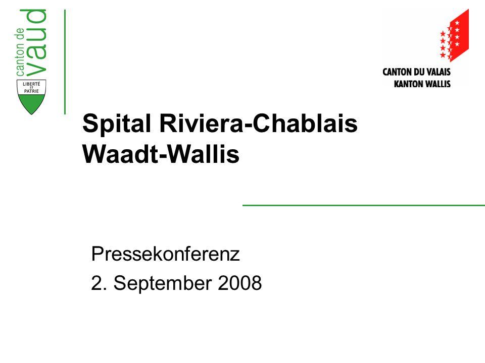 Pressekonferenz 2. September 2008 Spital Riviera-Chablais Waadt-Wallis