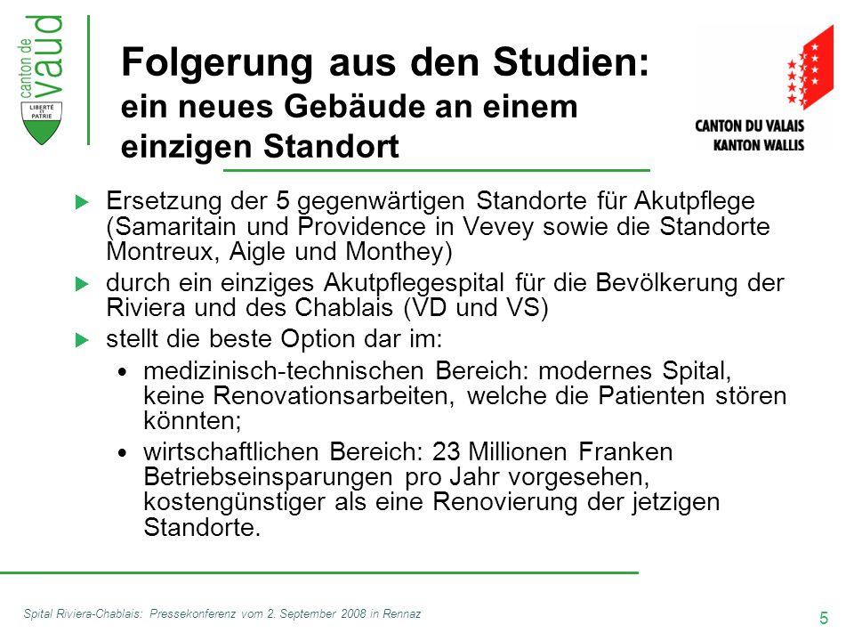 5 Spital Riviera-Chablais: Pressekonferenz vom 2.