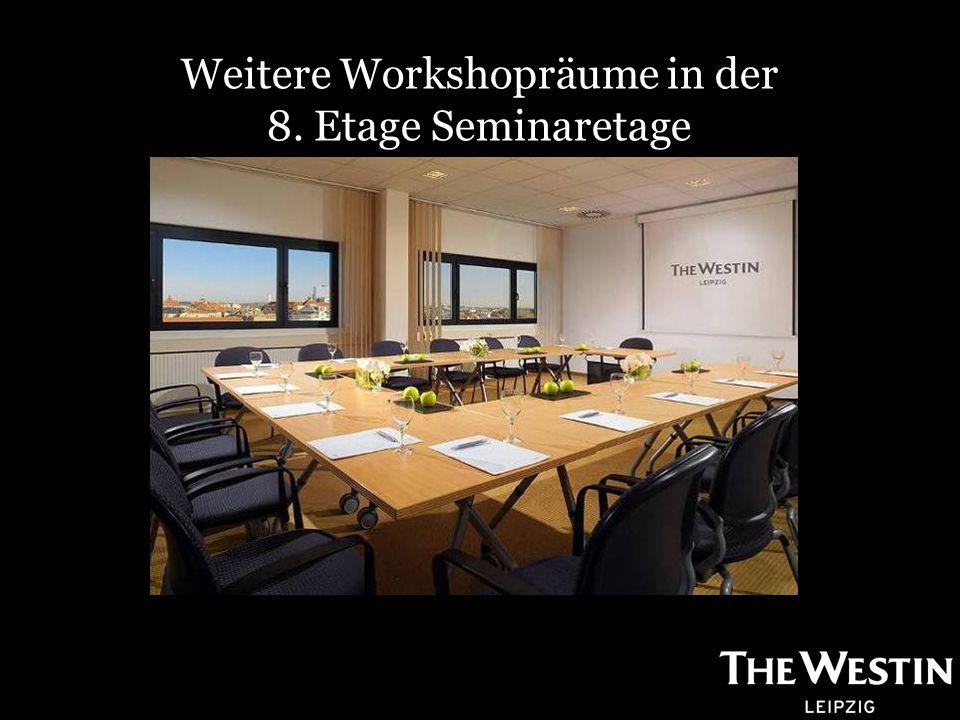 Weitere Workshopräume in der 8. Etage Seminaretage