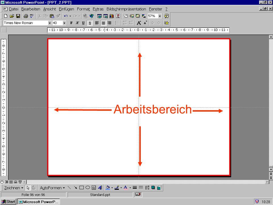 AnsichtenFolienGliederungFoliensortierungNotizblattBildschirmpräsentation