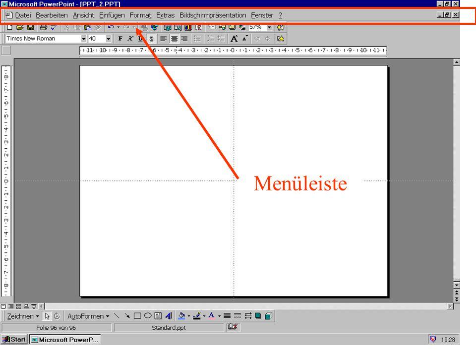 Fenster Sinnvoll, wenn mehrere Dateien geöffnet sind Nebeneinander anordnen (Alle anordnen) überlappend aktive Präsentationen » Menüleiste J.
