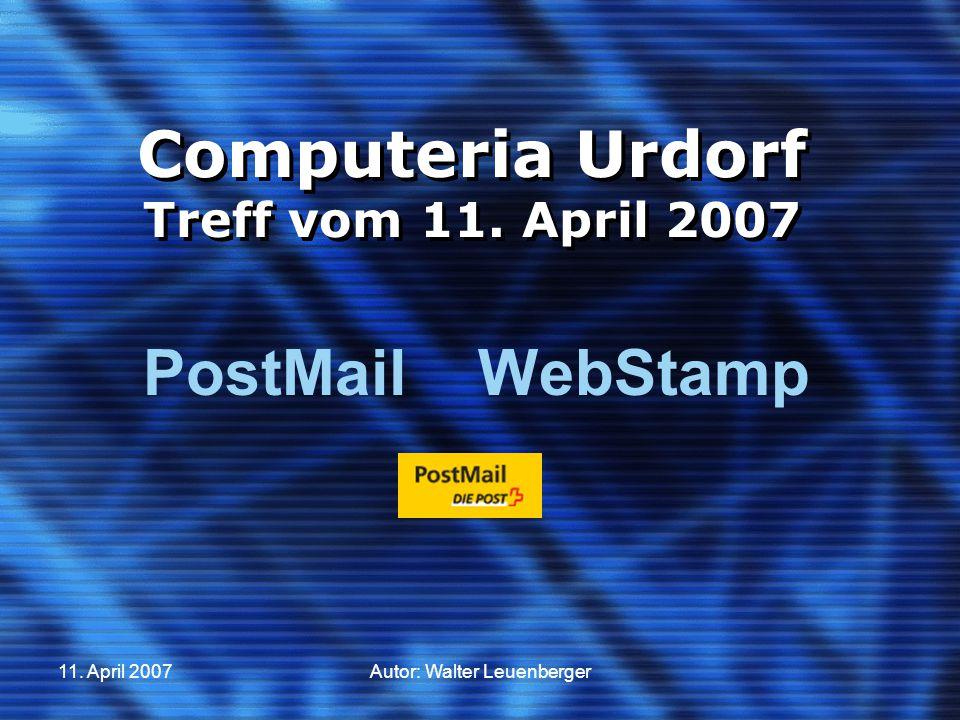 Digitale Briefmarke «WebStamp»  Schritt 7 1.