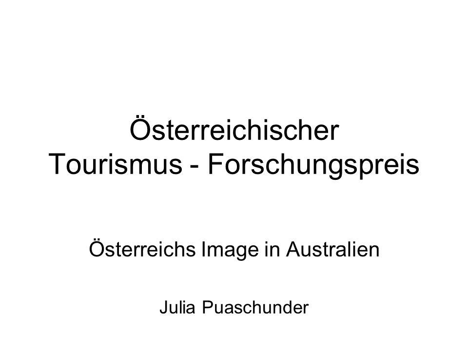 Österreichischer Tourismus - Forschungspreis Österreichs Image in Australien Julia Puaschunder