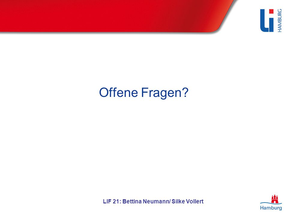 LIF 21: Bettina Neumann/ Silke Vollert Offene Fragen?