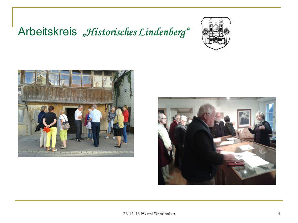 """26.11.13 Hanni Windhaber 4 Arbeitskreis """"Historisches Lindenberg"""