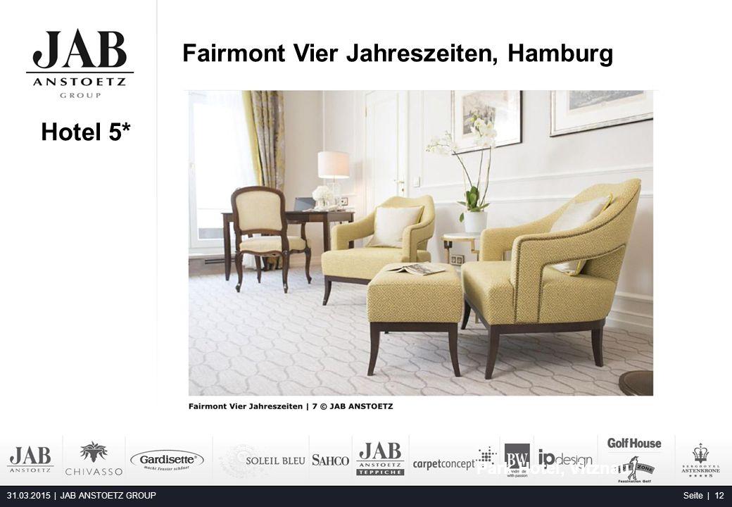 Fairmont Vier Jahreszeiten, Hamburg 31.03.2015 | JAB ANSTOETZ GROUP Seite | 12 Hotel 5* Park Hotel, Vitznau