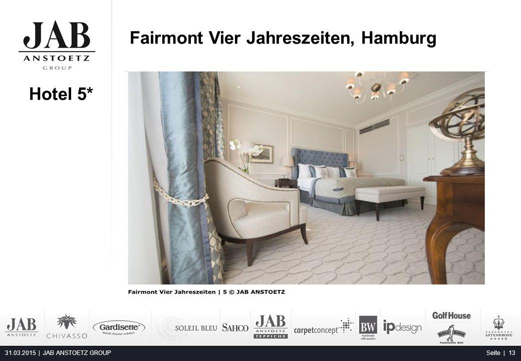 Fairmont Vier Jahreszeiten, Hamburg 31.03.2015 | JAB ANSTOETZ GROUP Seite | 13 Buddha Bar Hotel, Klotild Palace, Budapest Hotel 5*