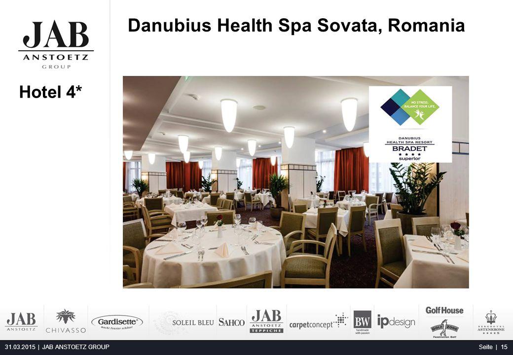 Danubius Health Spa Sovata, Romania 31.03.2015 | JAB ANSTOETZ GROUP Seite | 15 Hotel 4*